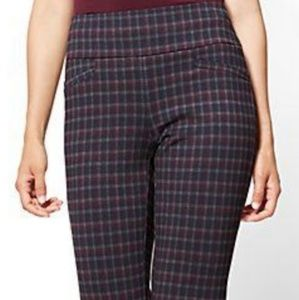 New York  and CompanyPull-On Pant Burgundy Plaid